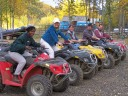 atv riders ready for action