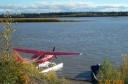float plane on Yukon River