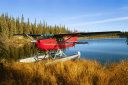 float plane on a lake