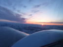 sunset above the wing