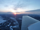 sunset from the plane